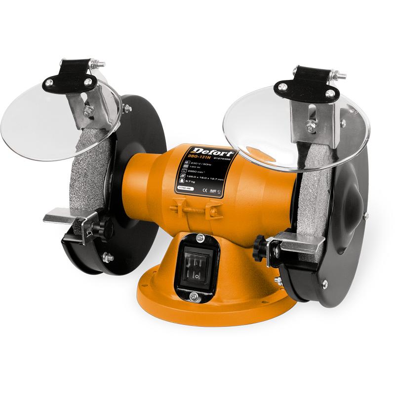 Машина заточная Defort DBG-131NAG-125/1011Машина заточная Defort DBG-131N предназначена для заточки различного режущего инструмента, а также для шлифовки. Компактная кострукция, малошумный двигатель, пылезащищенный выключатель, защитные экраны, резиновые опоры, упоры для деталеи.Комплектация: упор 2 шт, диск абразивный 2 шт, кронштейн защитного щитка 2 шт, защитный щиток 2 шт.Посадочный диаметр диска: 12,7 мм120 ВтПитание от сети 220 В125 х 16 мм 2950 об/мин Характеристики:Материал: пластик, металл. Размер упаковки: 29 см х 18 см х 21 см.