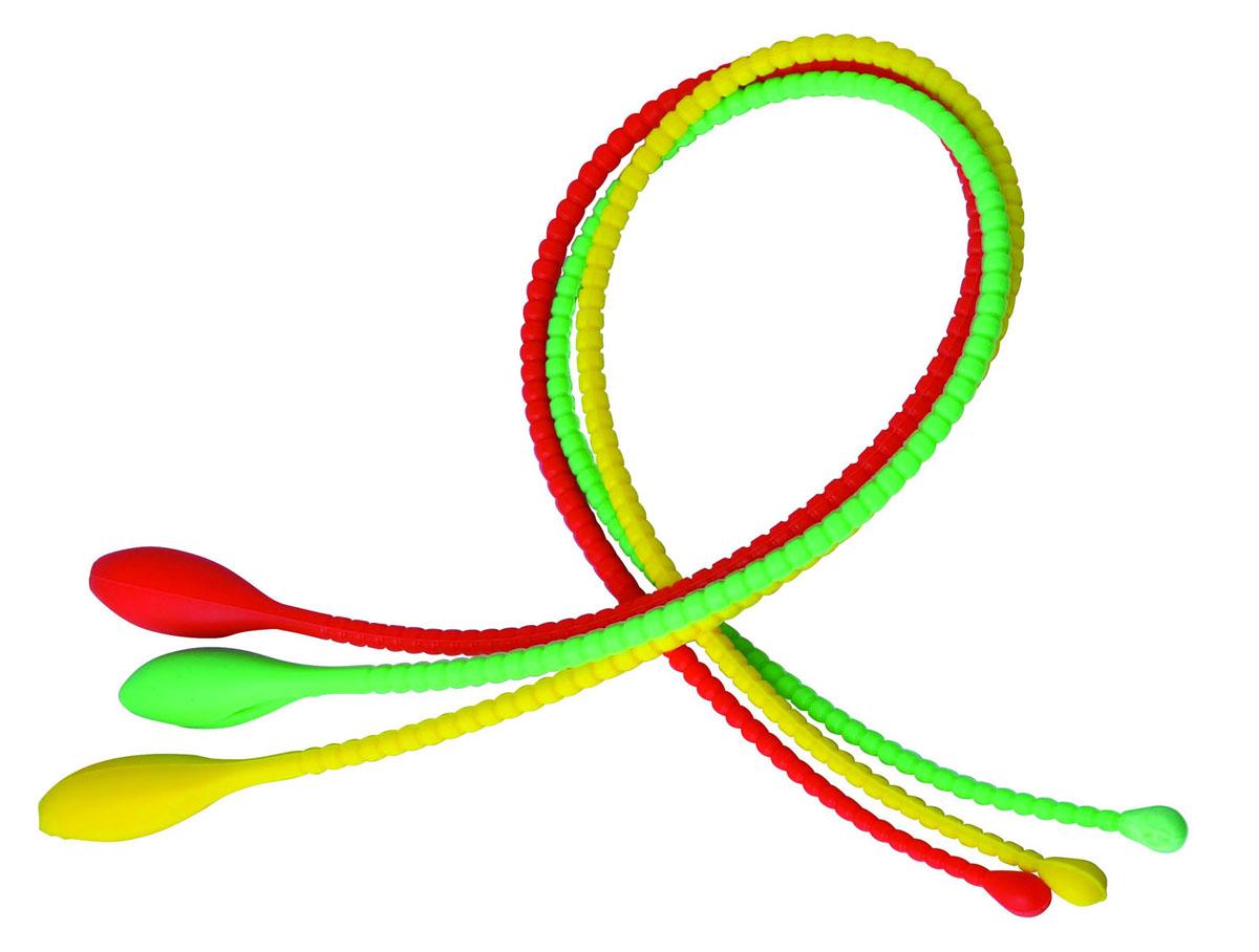 Набор шнуров-петель кулинарных Silicone, 3 шт93-SI-S-23Набор Linea Silicone состоит из трех кулинарных шнуров-петель разного цвета, выполненных из силикона. Кулинарные шнуры-петли предназначены для простого и быстрого связывания продуктов, рулетов, птицы, рыбы, овощей и т.д. для их приготовления и хранения. Силикон выдерживает высокие и низкие температуры (от -40°С до +230°С) и абсолютно безвреден для здоровья. Шнуры-петли быстро остывают, они эластичны, износостойки, легко моются, не горят и не тлеют, не впитывают запахи, не оставляют пятен. Набор Linea Silicone - это прекрасный подарок, необходимый любой хозяйке. Характеристики: Материал: силикон. Длина шнуров-петель: 44 см. Цвет: красный, зеленый, желтый. Артикул: 93-SI-S-23.