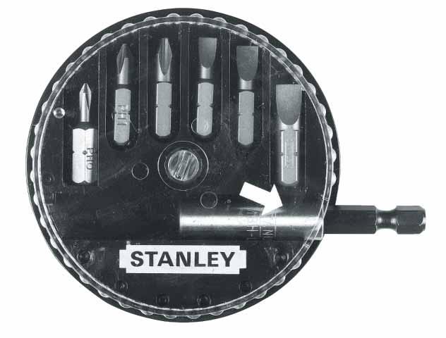 Набор вставок к отверткам Stanley, 7 шт(PH, прямой шлиц) 1-68-735