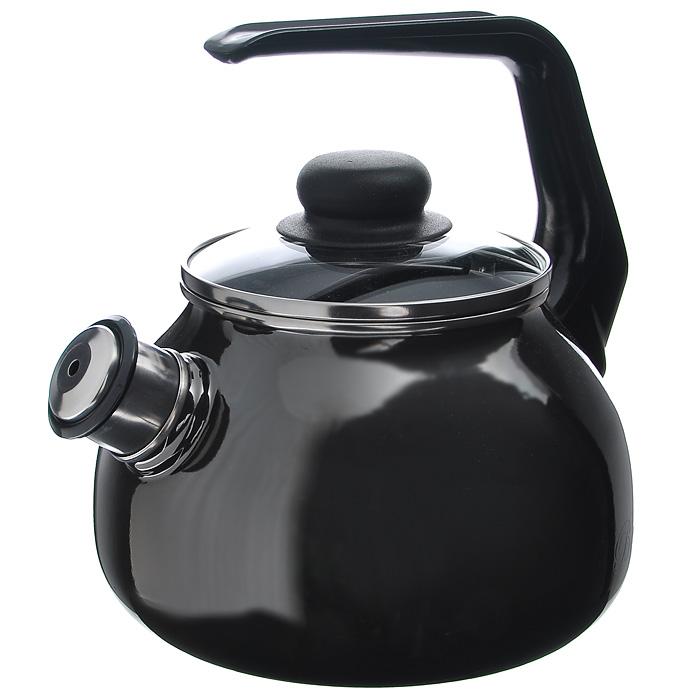 Чайник Bon Appetit со свистком, цвет: мокрый асфальт, 2 лVT-1520(SR)Чайник Bon Appetit изготовлен из высококачественного стального проката со стеклокерамическим покрытием. Корпус - цвета мокрый асфальт. Стеклокерамика инертна и устойчива к пищевым кислотам, не вступает во взаимодействие с продуктами и не искажает их вкусовые качества. Прочный стальной корпус обеспечивает эффективную тепловую обработку пищевых продуктов и не деформируется в процессе эксплуатации.Чайник оснащен черной пластиковой удобной ручкой. Крышка чайника выполнена из стекла с пароотводном, что позволяет сохранять тепло. Носик чайника с насадкой-свистком позволит вам контролировать процесс подогрева или кипячения воды.Чайник Bon Appetit пригоден для использования на всех видах плит, включая индукционные. Можно мыть в посудомоечной машине. Характеристики:Материал: нержавеющая сталь, пластик, стекло. Цвет: мокрый асфальт. Объем: 2 л. Диаметр основания чайника: 18 см. Высота чайника (с учетом ручки): 22 см. Размер упаковки: 20 см х 25 см х 20 см. Артикул: 8RA12.