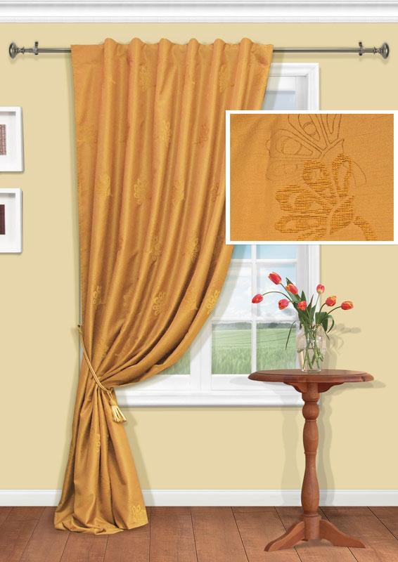 Штора Kauffort Анжелика, на тесьме-кулиске, цвет: золотистый, высота 275 смUN111409625Изящная штора Kauffort Анжелика, выполненная из плотного полиэстера золотистого цвета, станет великолепным украшением любого окна. Оригинальная вышивка и нежная цветовая гамма привлекут к себе внимание и органично впишутся в интерьер помещения. Верхняя часть шторы оснащена тесьмой-кулиской для крепления на круглый карниз. Характеристики: Материал: 100% полиэстер. Цвет: золотистый. Размер упаковки: 38 см х 27 см х 3 см. Артикул: UN111409625. В комплект входит: Штора - 1 шт. Размер (Ш х В): 146 см х 275 см (отклонение размера ~1,5%). Уважаемые клиенты! Обращаем ваше внимание на тот факт, что подхват, изображенный на фотографии, в комплект не входит.