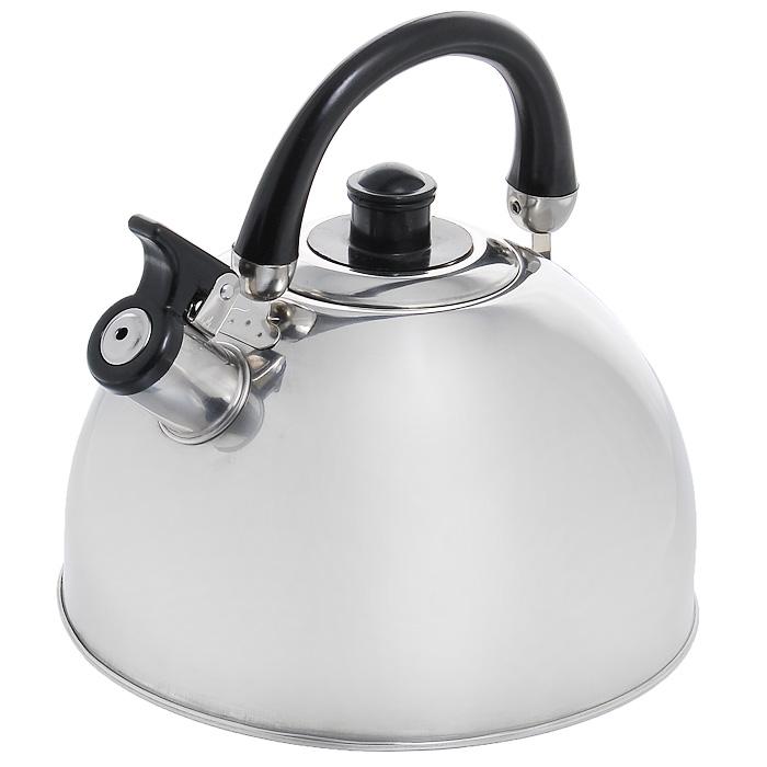 Чайник Appetite со свистком, 3,5 лCM000001326Чайник Appetite изготовлен из высококачественной нержавеющей стали с 3-х слойным термоаккумулирующим дном. Нержавеющая сталь обладает высокой устойчивостью к коррозии, не вступает в реакцию с холодными и горячими продуктами и полностью сохраняет их вкусовые качества. Особая конструкция дна способствует высокой теплопроводности и равномерному распределению тепла. Чайник оснащен черной пластиковой удобной ручкой. Носик чайника имеет откидной свисток, звуковой сигнал которого подскажет, когда закипит вода. Чайник Appetite пригоден для использования на всех видах плит, кроме индукционных. Можно мыть в посудомоечной машине. Характеристики:Материал:нержавеющая сталь, пластик. Объем:3,5 л. Диаметр основания чайника: 22 см. Высота чайника (с учетом ручки):22 см. Высота чайника (без учета ручки):16 см. Размер упаковки: 22 см х 22 см х 18 см. Артикул: MK-3502.