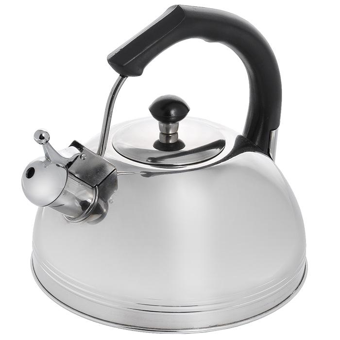 Чайник Appetite со свистком, 3 лJX-5052Чайник Appetite изготовлен из высококачественной нержавеющей стали с 3-х слойным термоаккумулирующим дном. Нержавеющая сталь обладает высокой устойчивостью к коррозии, не вступает в реакцию с холодными и горячими продуктами и полностью сохраняет их вкусовые качества. Особая конструкция дна способствует высокой теплопроводности и равномерному распределению тепла. Чайник оснащен черной пластиковой удобной ручкой. Носик чайника имеет откидной свисток, звуковой сигнал которого подскажет, когда закипит вода. Чайник Appetite пригоден для использования на всех видах плит, кроме индукционных. Можно мыть в посудомоечной машине. Характеристики: Материал: нержавеющая сталь, пластик. Объем: 3 л. Диаметр основания чайника: 22 см. Высота чайника (с учетом ручки): 22 см. Размер упаковки: 22 см х 22 см х 22,5 см. Артикул: JX-5052.