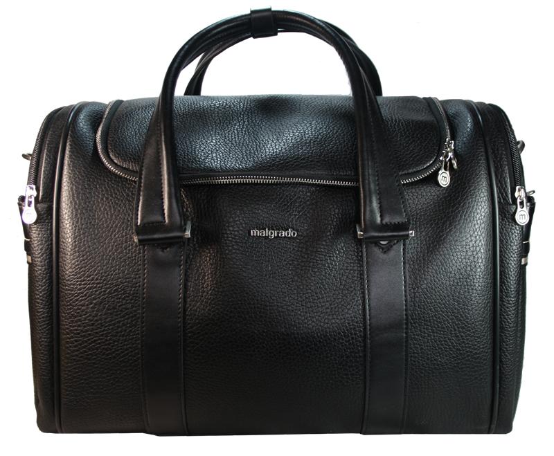 Сумка мужская Malgrado, цвет: черный. BR11-616C1538BR11-616C1538Стильная мужская сумка Malgrado выполнена из натуральной кожи черного цвета. Сумка имеет одно основное отделение, которое закрывается на застежку-молнию. Внутри - вшитый карман на молнии. С боковых сторон сумка содержит по два отделения на молнии. Сумка оснащена двумя удобными ручками и отстегивающимся плечевым ремнем регулируемой длины с накладкой для плеча. Фурнитура - серебристого цвета. На дне имеется 5 пластиковых ножек для предотвращения загрязнений. Стильная мужская сумка Malgrado идеально подойдет для поездок и путешествий, она вместит все необходимые вещи, а также станет стильным аксессуаром, который подчеркнет ваш образ. Характеристики: Материал: натуральная кожа, текстиль, металл. Длина плечевого ремня: 120 см. Высота ручек: 26 см. Цвет: черный. Артикул: BR11-616C1538.