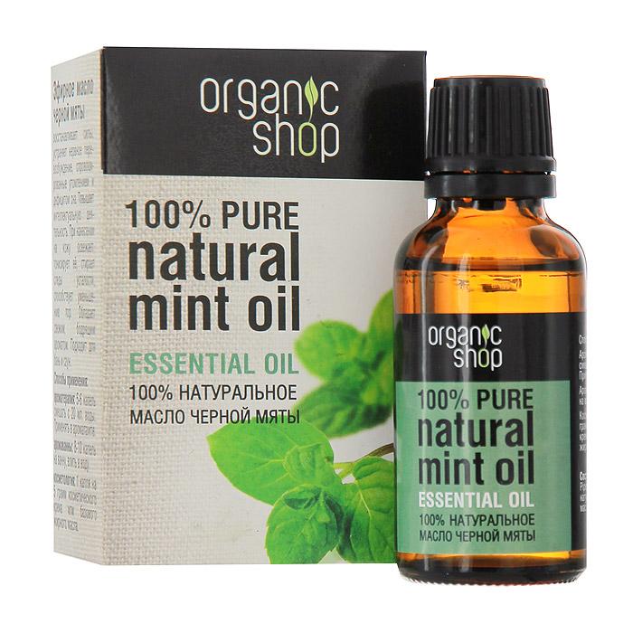 Organic Shop Эфирное масло черной мяты, 30 мл0861-11881100% натуральное эфирное масло черной мяты Organic Shop восстанавливает силы, устраняет нервное перевозбуждение, спровоцированное утомлением и дефицитом сна, повышает интеллектуальную деятельность. При нанесении на кожу освежает и тонизирует ее, стирает следы усталости. Обладает свежим бодрящим ароматом. Подходит для бань и саун. Использование: Ароматерапия: 5-6 капель смешать с 20 мл. воды, применять в аромалампе. Аромаванны: 8-10 капель добавить в ванну, принимать 15-20 минут. Косметология: 1 капля масла на 5 грамм косметического крема или базового жирного масла.