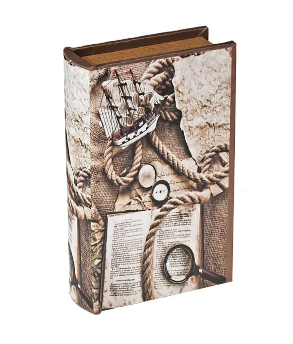 Шкатулка-книга Ветер странствий444018Шкатулка-книга Ветер странствий изготовлена из дерева. Оригинальное оформление шкатулки, несомненно, привлечет внимание. Шкатулка изготовлена в виде книги, поверхность которой выполнена из шёлка. Такая шкатулка может использоваться для хранения бижутерии, в качестве украшения интерьера, а также послужит хорошим подарком для человека, ценящего практичные и оригинальные вещицы. Характеристики: Материал: дерево, шёлк, металл, кожзам. Цвет: коричневый. Размер шкатулки (в закрытом виде): 17 см х 11 см х 5 см. Размер упаковки: 18 см х 12 см х 5,5 см. Артикул: 444018.