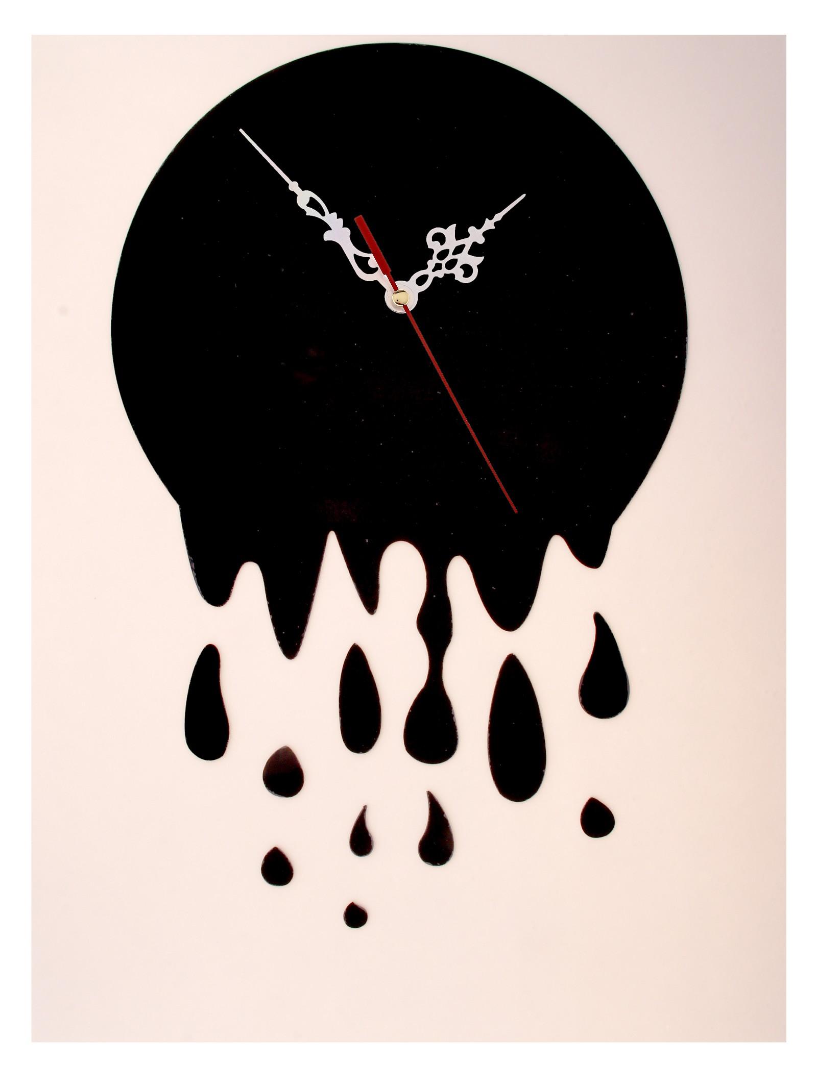 Часы-наклейка Капли, 60 см х 44 см. 72954894672Часы-наклейка Капли изготовлены из пластика черного цвета с глянцевой поверхностью. Часы выполнены в виде круглого основания (циферблат), в которое вставляется часовой механизм со стрелками. Для большего декоративного эффекта к основанию прилагаются дополнительные наклейки в виде капелек.Если Вы – любитель перестановок или вам приходится часто переезжать, то часы-наклейка многоразового использования – это то, что вам нужно: они не требуют гвоздей в стене и фиксации на одном месте.Легкие и компактные они украсят интерьер и никогда не примелькаются. Характеристики:Материал: пластик. Цвет: черный. Диаметр основания: 32 см. Размер композиции: 60 см х 44 см. Длина стрелки: 12 см. Изготовитель: Китай. Артикул: 729548.