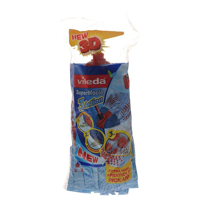 Насадка для ленточной швабры Vileda Super Mocio 3 Action32110721Сменная насадка Vileda Super Mocio 3 Action предназначена для влажной уборки любых типов напольных покрытий, в том числе паркета и ламината. Она станет незаменимым атрибутом любой уборки. Благодаря специальному абразивному материалу и материалу с тиснением, насадка эффективно собирает крупный и мелкий мусор, удаляет стойкие загрязнения. Микроволокно данной насадки обладает хорошей впитывающей способностью. Насадка крепится к швабре при помощи защелкивания. Насадку можно стирать в стиральной машине. Характеристики: Материал: 83% целлюлоза, 16% полиэстер, 1% полиамид. Длина насадки: 25 см. Производитель: Германия. Vileda - торговая марка немецкого концерна Freudenberg, выпускающего первоклассный уборочный инвентарь, как для уборки дома, так и для профессиональной уборки. Концерн Freudenberg, частью которого является Vileda, существует уже 161 год, торговая марка Vileda - 62 года. В настоящее время...