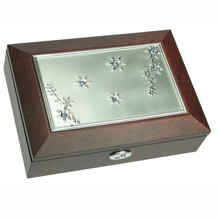 Шкатулка ювелирная Moretto, цвет: коричневый, 18 х 13 х 5 см 39691 салатник кубаньфарфор роза кавказа 18 5 х 18 5 см