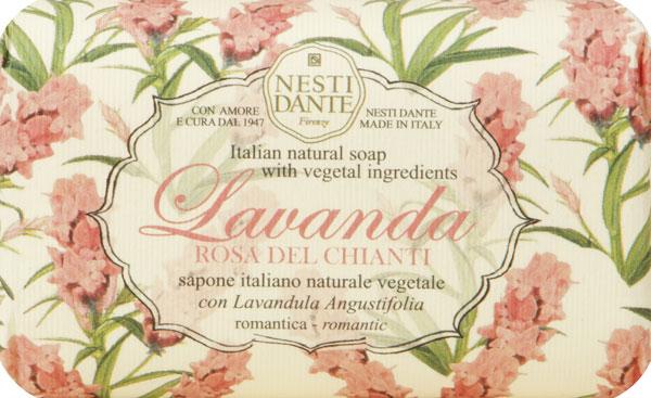 Nesti Dante Мыло Lavanda Rosa del Chianti, 150 г1794106Мыло Nesti Dante Lavanda Rosa del Chianti является натуральным и питательным растительным мылом с игристым и отчасти мистическим ароматом. Характеристики: Вес: 150 г. Артикул: 1794106. Производитель: Италия. Товар сертифицирован.
