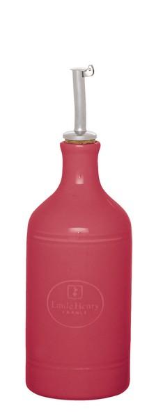 Бутылка для масла и уксуса Emile Henry Urban Colors, цвет: малиновый, 450 мл420215Сочные краски и аутентичный дизайн бутылки для масла и уксуса Emile Henry Urban Colors, выполненной из глазурованной керамики, станут ярким штрихом на вашей кухонной полке. Вы нальете ровно столько масла, сколько нужно, не уронив ни одной лишней капли, ведь металлическая крышка с носиком снабжена клапаном антикапля, не допускающим пролива. Стенки бутылки светонепроницаемые, поэтому ее можно хранить в открытом шкафу, не волнуясь, что ваше лучшее оливковое масло потеряет вкус и аромат. Диаметр дна бутылки: 7,5 см. Высота бутылки с учетом носика: 23,5 см.
