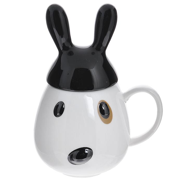 """Кружка """"Кролик"""" с черной крышкой"""