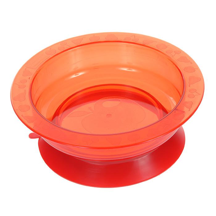 Тарелка на присоске Курносики, цвет: красный17308Пластиковая тарелочка Курносики красного цвета с удобной присоской, идеально подойдет для кормления малыша, и самостоятельного приема им пищи. Тарелочка выполнена из прочного безопасного материала. Специальное резиновое кольцо-присоска фиксирует тарелочку на столе, благодаря чему она не упадет, еда не прольется, а ваш малыш будет доволен. Характеристики: Материал: пластик, резина. Рекомендуемый возраст: от 5 месяцев. Высота тарелки: 5 см. Внешний диаметр тарелки: 17,5 см. Внутренний диаметр тарелки: 14 см Диаметр присоски: 14 см.