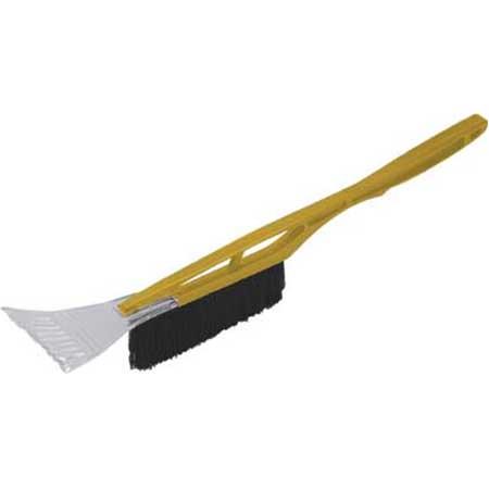 Щетка-скребок для уборки снега FIT, длина 53 см, цвет: желтый