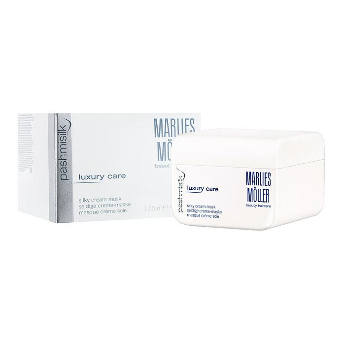 Marlies Moller Маска Pashmisilk для волос, интенсивная, шелковая, 125 млFS-00103Один самых интенсивных продуктов. Укрепляет, питает и делает волосы более гладкими. Придает волосам натуральный, шелковый блеск и пленительную мягкость. Предотвращает появление статического электричества. Очень легкая маска, не утяжеляет волосы. Рекомендуется для всех типов волос. Мягкое средство без силиконов. Уникальность маски заключается не только в эффекте, который она оказывает на волосы, но и в способах нанесения, их четыре. Можно вечером нанести маску тонким слоем и оставить на всю ночь (не пачкает подушку). Можно утром нанесите небольшое количество маски на сухие волосы, дать впитаться (1-2 минуты). Маска совершенно незаметна на волосах и будет весь день интенсивно ухаживать и защищать Ваши волосы. Можно нанести маску перед мытьем на сухие волосы: она распределяется по всей длине волос, после 10 - 20 минут смыть шампунем. Можно нанести маску классическим способом на чистые подсушенные волосы на 10 - 20 минут и смыть водой.Бережно нанесите на сухие или подсушенные полотенцем волосы. Оставьте на 15 минут. Тщательно смойте.