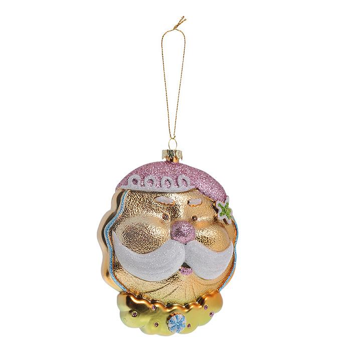 Новогоднее подвесное украшение Дед Мороз. 2589025890Оригинальное новогоднее украшение выполнено из пластика в виде головы Дедушки Мороза в розовом колпаке и с пышными белыми усами. Украшение декорировано блестками. С помощью специальной петельки его можно повесить в любом понравившемся вам месте. Но, конечно же, удачнее всего такая игрушка будет смотреться на праздничной елке. Новогодние украшения приносят в дом волшебство и ощущение праздника. Создайте в своем доме атмосферу веселья и радости, украшая всей семьей новогоднюю елку нарядными игрушками, которые будут из года в год накапливать теплоту воспоминаний. Коллекция декоративных украшений из серии Magic Time принесет в ваш дом ни с чем несравнимое ощущение волшебства! Характеристики: Материал: пластик, блестки, текстиль. Размер украшения: 8,5 см х 4 см х 12 см. Артикул: 25890.