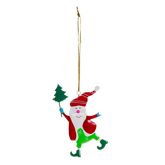Новогоднее подвесное украшение Гномик. 3086530865Оригинальное новогоднее украшение выполнено из металла в виде веселого гномика. С помощью специальной петельки украшение можно повесить в любом понравившемся вам месте. Но, конечно, удачнее всего такая игрушка будет смотреться на праздничной елке. Елочная игрушка - символ Нового года. Она несет в себе волшебство и красоту праздника. Создайте в своем доме атмосферу веселья и радости, украшая новогоднюю елку нарядными игрушками, которые будут из года в год накапливать теплоту воспоминаний. Коллекция декоративных украшений из серии Magic Time принесет в ваш дом ни с чем несравнимое ощущение волшебства! Характеристики: Материал: металл, текстиль. Размер украшения: 6 см х 9,5 см. Артикул: 30865.