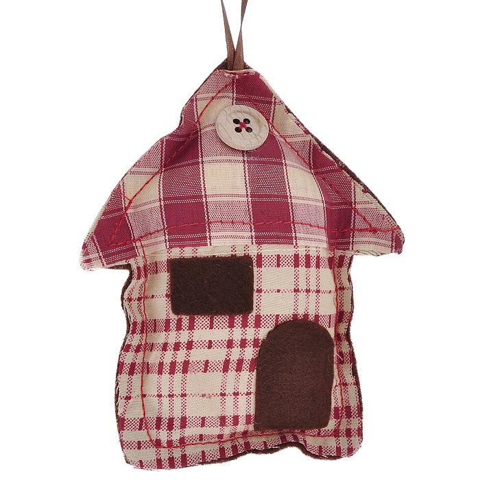 Новогоднее подвесное украшение Домик. 2531525315Оригинальное новогоднее украшение Домик выполнено из полиэстера с клетчатым рисунком с внешней стороны и полиэстера коричневого цвета с внутренней стороны. На крыше домика нашита пуговица. С помощью специальной текстильной петельки украшение можно повесить в любом понравившемся вам месте. Но, конечно, удачнее всего такая игрушка будет смотреться на праздничной елке. Новогодние украшения приносят в дом волшебство и ощущение праздника. Создайте в своем доме атмосферу веселья и радости, украшая всей семьей новогоднюю елку нарядными игрушками, которые будут из года в год накапливать теплоту воспоминаний. Характеристики: Материал: полиэстер. Цвет: бордовый, бежевый, коричневый. Размер украшения: 12 см х 10 см х 2 см. Артикул: 25315.