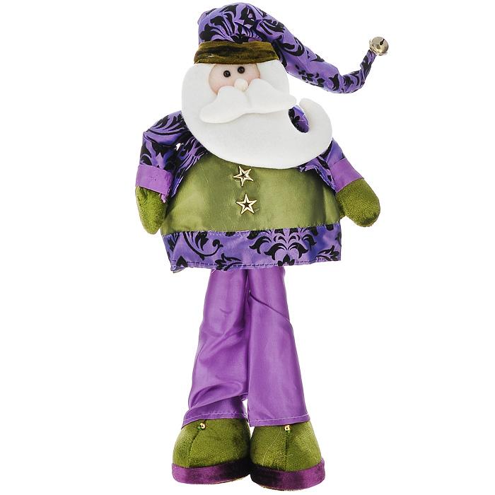 Новогоднее украшение Санта, высота 41 см. 2651926519Новогоднее украшение Санта, выполненное из полиэстера, отлично подойдет для декорации вашего дома. Украшение выполнено в виде фигурки Санта Клауса в фиолетовом колпачке с бубенчиком на конце. Ноги и руки Санты сгибаются. Вы можете поставить фигурку в любом месте, где она будет удачно смотреться, и радовать глаз. Кроме того, это украшение - отличный вариант подарка для ваших близких и друзей. Новогодние украшения всегда несут в себе волшебство и красоту праздника. Создайте в своем доме атмосферу тепла, веселья и радости, украшая его всей семьей. Характеристики: Материал: полиэстер, металл. Цвет: зеленый, сиреневый. Размер фигурки (Ш х Г х В): 25 см х 7,5 см х 41 см. Размер упаковки: 26 см х 8 см х 42 см. Артикул: 26519.