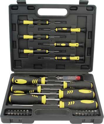 Набор отверток с битами FIT, 27 предметов. 56402  отвертка тестер fit 70 250 в 140 мм