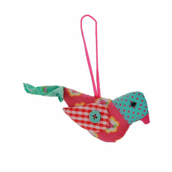 Новогоднее подвесное украшение Птичка, цвет: розовый, голубой. 2536725367Оригинальное новогоднее украшение выполнено из текстиля в виде птички. С помощью специальной ленты украшение можно повесить в любом понравившемся вам месте. Но, конечно же, удачнее всего такая игрушка будет смотреться на праздничной елке. Новогодние украшения приносят в дом волшебство и ощущение праздника. Создайте в своем доме атмосферу веселья и радости, украшая всей семьей новогоднюю елку нарядными игрушками, которые будут из года в год накапливать теплоту воспоминаний. Коллекция декоративных украшений из серии Magic Time принесет в ваш дом ни с чем несравнимое ощущение волшебства!