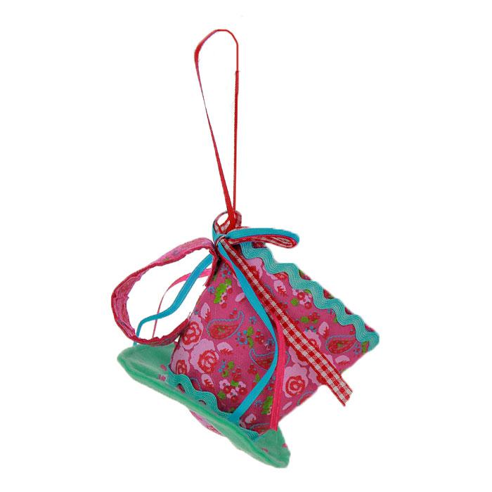 """Феникс-Презент Новогоднее подвесное украшение """"Чашка"""", цвет: бирюзовый, розовый. 25371"""