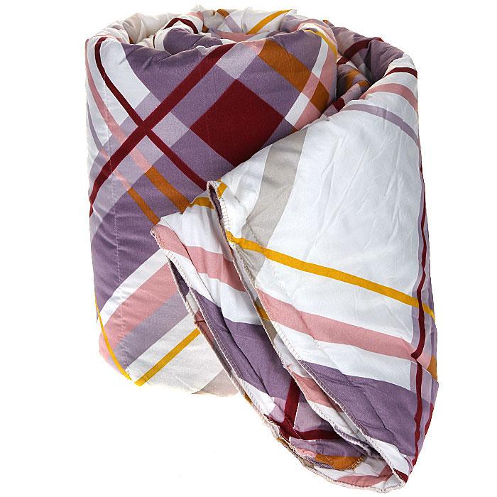 Одеяло Диана Мечта, наполнитель: термофайбер, 140 см х 205 см10503Одеяло Диана Мечта подарит вам незабываемое чувство комфорта и согреет в морозы. Чехол выполнен из полиэстера с принтом в разноцветную полоску, внутри - наполнитель термофайбер. Термофайбер - это синтетический утеплитель нового поколения c добавлением силиконизированных волокон, придающих повышенную теплостойкость, упругость и мягкость. Наполнитель делает одеяло легким и воздушным, с отличной терморегуляцией. Характеристики: Материал чехла: полиэстер. Наполнитель: термофайбер. Размер одеяла: 140 см х 205 см. Артикул: М-140-205.