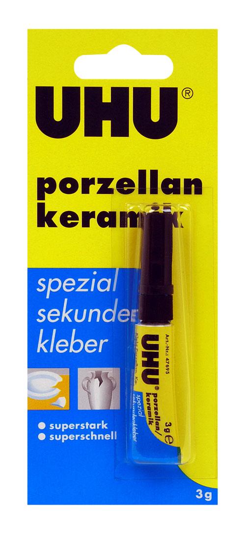 """Клей UHU """"Porzellan"""" для керамики, секундный, 3 г 47695"""