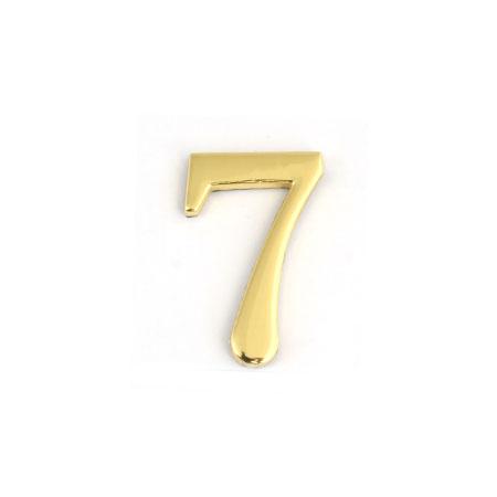 Цифра для обозначения номера квартиры 7, цвет: золотистыйFS-91909Цифра 7 для обозначения номера квартиры выполнена из золотистого металла. Устанавливается с помощью липкого слоя, нанесенного на обратную сторону изделия. Характеристики: Материал: металл. Цвет: золотистый. Размер цифры: 2,8 см х 4,3 см х 0,5 см. Размер упаковки: 12 см х 6 см х 0,7 см. Артикул: 67297.