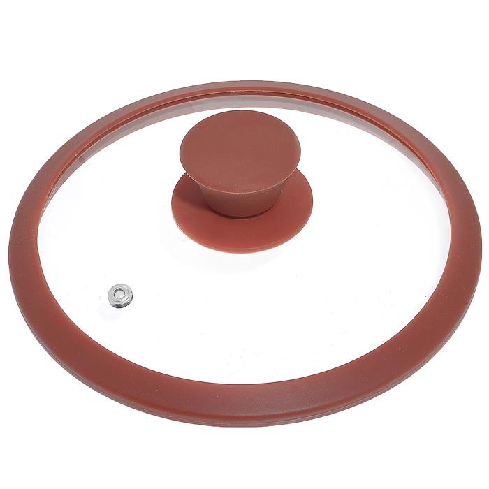 Крышка стеклянная Winner, цвет: коричневый. Диаметр 16 см94672Крышка Winner изготовлена из термостойкого стекла с ободом из силикона. Крышка оснащена отверстием для выпуска пара. Ручка, выполненная из термостойкого бакелита с силиконовым покрытием, защищает ваши руки от высоких температур. Крышка удобна в использовании и позволяет контролировать процесс приготовления пищи. Характеристики:Материал:стекло, силикон, бакелит. Диаметр: 16 см. Изготовитель: Германия. Производитель: Китай. Размер упаковки: 16,6 см х 16,6 см х 4 см. Артикул: WR-8300.