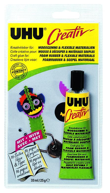 """Клей UHU """"Creativ"""" для пенорезины и эластичных материалов, 33 мл 47195/47198"""