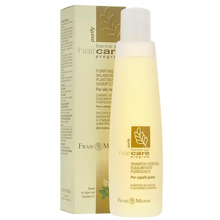 Frais Monde Шампунь очищающий, для жирных волос, 200 млНС004Очищающий шампунь создан на основе сернистой термальной воды, благодаря чему очень мягко очищает жирные волосы, освежая и дезинфицируя волосяной покров. Аргановое масло образует защитную пленку, обезжиривает и защищает кожу головы, масло копаиба обладает антисептическим действием и смягчает волосы. Экстракты олигосахаридов из пальчатой ламинарии и смесь аминокислот из вытяжки аскофиллума узловатого регулируют сальную секрецию, уменьшают выработку кожного сала и оказывают регенерирующее действие. Средство гипоаллергенно, РН сбалансировано, не раздражает глаза. Характеристики: Объем: 200 мл. Артикул: НС004. Производитель: Италия. Товар сертифицирован.