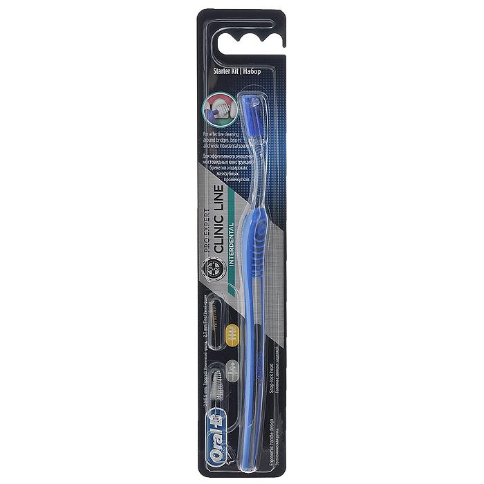 Oral-B Межзубный набор Interdental Starter Kit. Межзубная щетка, 2 сменных ершикаIDK-75034153Межзубный набор Oral-B Interdental Starter Kit состоит из межзубной щетки, одного конического ершика и одного цилиндрического ершика. Набор незаменим при наличии широких межзубных промежутков, различных ортодонтических конструкций, особенно при брекет-системах, а также при имплантах и мостовидных протезах. Благодаря эргономичному дизайну и ребристой поверхности с упором для большого и указательного пальцев, щетка надежно фиксируется в руке, обеспечивая уверенный и точный контроль в полости рта. Благодаря возможности изменения угла ершика на 180 градусов - вы сможете легко достигнуть всех труднодоступных участков полости рта и конструкций, а длинная узкая шейка щетки обеспечивает доступ к самым отдаленным участкам полости рта. Цилиндрический ершик предназначен для более узких промежутков, а конический для более широких. Уникальный и простой замок надежно фиксирует ершик в щетке и упрощает его замену. Характеристики: Длина щетки: 18,5 см. Диаметр...