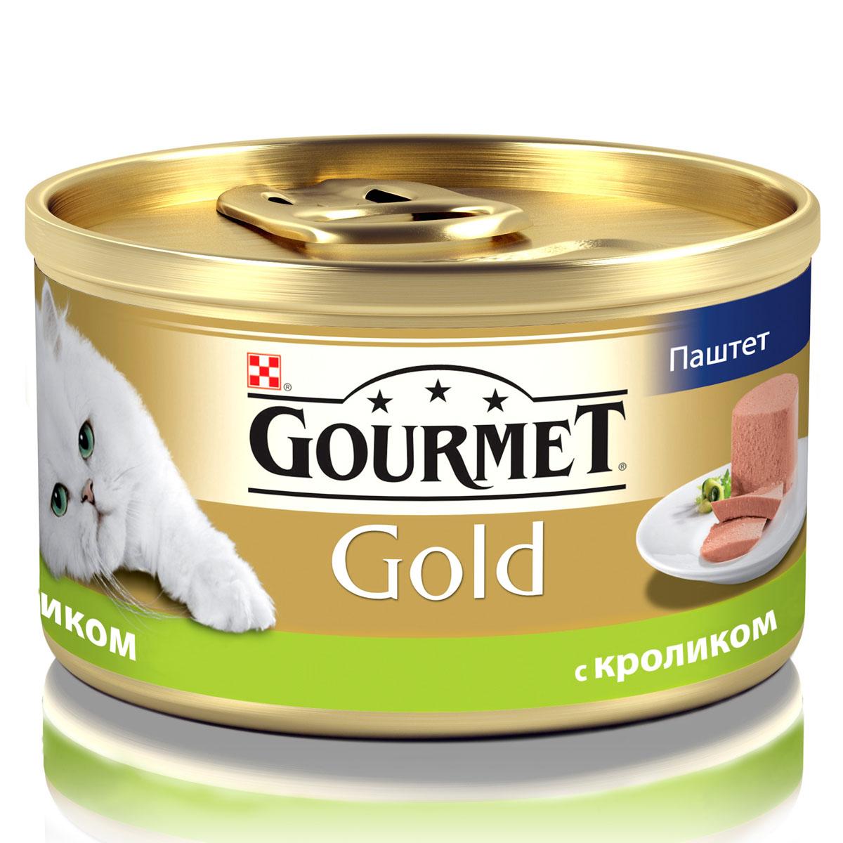 Консервы для кошек Gourmet Gold, паштет с кроликом, 85 г12182548Корм Gourmet Gold консервированный полнорационный для взрослых кошек. Рекомендации по кормлению: кормите кошку 2 раза в день из расчета 4 банки в день. Индивидуальные потребности животного могут отличаться, поэтому норма кормления должна быть скорректирована для поддержания оптимального веса вашей кошки. Для беременных и кормящих - кормление без ограничений. Давайте корм комнатной температуры. Следите, чтобы у вашей кошки всегда была чистая, свежая питьевая вода. Хранить в сухом прохладном месте. Состав: мясо и мясные субпродукты (из которых кролика 4%), минеральные вещества, сахар, витамины, продукты переработки злаков. Гарантируемые показатели: влажность 77,5%, белок 11,0%, жир 7,0%, сырая зола 3,0%, сырая клетчатка 0,01%. Добавленные вещества МЕ/кг: Витамин А: 1640; витамин D3: 255. мг/кг: железо: 11,4; йод: 0,28; медь: 1,0; марганец: 2,2; цинк: 11,3. Вес: 85 г. Товар сертифицирован.