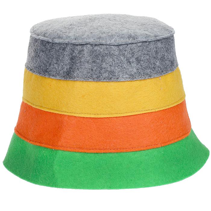 Шапка для бани и сауны Доктор баня В полоску, цвет: зеленый, оранжевый, желтый905254Шапка для бани и сауны Доктор баня В полоску, изготовленная из нетканого волокна, это оригинальный и незаменимый аксессуар для любителей попариться в русской бане и для тех, кто предпочитает сухой жар финской бани. Необычный дизайн изделия поможет сделать ваш отдых более приятным и разнообразным. При правильном уходе шапка прослужит долгое время - достаточно просушивать ее. Обхват головы: 60 см.