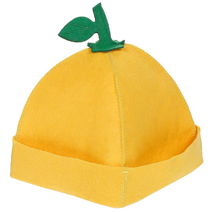Шапка для бани и сауны Лимончик, цвет: желтый905250Шапка для бани и сауны Лимончик, изготовленная из войлока, это незаменимый аксессуар для любителей попариться в русской бане и для тех, кто предпочитает сухой жар финской бани. Необычный дизайн изделия поможет сделать ваш отдых более приятным и разнообразным, к тому шапка защитит вас от появления головокружения в бани, ваши волосы от сухости и ломкости, а голову от перегрева. Такая шапка станет отличным подарком для любителей отдыха в бане или сауне. Характеристики: Материал: войлок (100% полиэстер). Цвет: желтый. Диаметр основания шапки: 29 см. Высота шапки: 21 см. Артикул: 905250.
