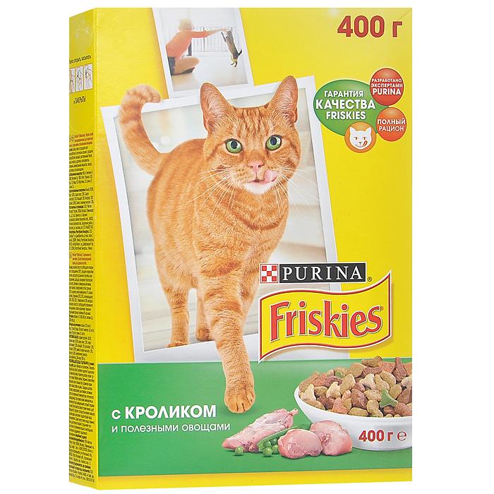 """Корм сухой для кошек """"Friskies"""", с кроликом и полезными овощами, 400 г 12152610"""