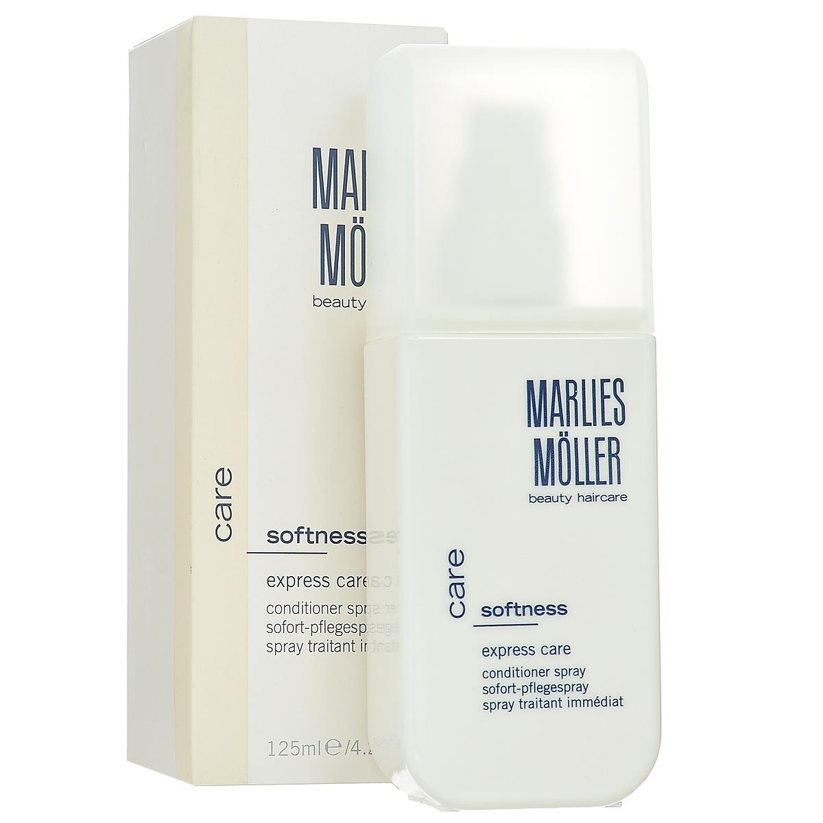 Marlies Moller Кондиционер-спрей для волос Softness, интенсивный, 125 мл27MMsКондиционер-спрей - это несмываемый уход, альтернатива обычному смываемому кондиционеру. Несмываемое средство находится на волосах дольше, следовательно, работает эффективнее. Делает волосы гладкими и струящимися. Мгновенно увлажняет, восстанавливает эластичность и сияние волос. Облегчает расчесывание, оказывает антистатический эффект. Подчеркивает локоны вьющихся волос. Премиальный уход с профессиональным эффектом. Высокая концентрация активных компонентов. Мягкое средство без силиконов, позволяет частое применение. Наносите спрей на сухие или подсушенные полотенцем волосы по мере необходимости. Не смывайте.