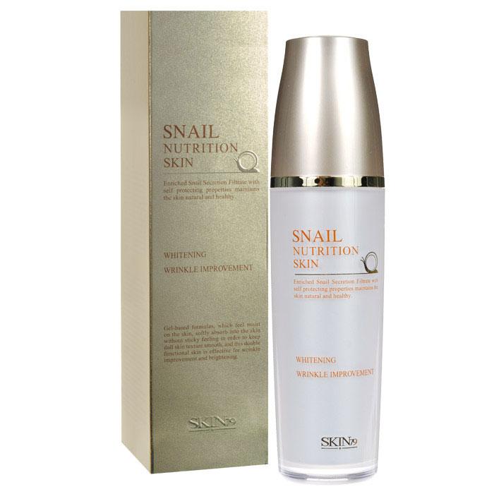 SKIN79 Тоник для лица Snail Nutrition с экстрактом улитки, 120 мл72523WDТоник для лица SKIN79 «Snail Nutrition» на основе геля, мягко впитывается в кожу прекрасно увлажняет, не оставляет липкого ощущения. Сохраняет кожу гладкой и упругой. Обладает эффективным анти-айдж эффектом, прекрасно разглаживает морщины и предотвращает их раннее появление. Обильное содержание фильтрата улиточной секреции делает кожу яркой и эластичной. Обеспечивает богатое питание для кожи из-за содержания Fucogel - 1000. Это комбинация полисахаридов, которые получают путем биотехнологического процесса ферментации из натуральных растительных компонентов. Фукогель дарит коже нежность, шелковистость без эффекта маслянистости. Обеспечивает мгновенный и продолжительный эффект увлажненности, благодаря формированию пленочки на коже и эффекту удержания влаги. Насыщает влагой роговой слой кожи на более длительный период. Запатентованный состав морской улитки придает коже гладкость и питание в течение длительного времени. B-глюкан и швейцарские альпийские травы помогут делать защитный барьер для кожи, а также помогут выглядеть коже более живой и здоровой. Кроме того, травы прекрасно успокаивают раздраженную кожу, а b-глюкан поможет скрыть все следы усталости на вашем лице. Способ применения: после очищения, нанесите небольшое количество тоника на лицо, слегка похлопайте по коже лица, дайте впитаться.Характеристики:Объем: 120 мл . Размер упаковки: 5,2 см x 5,2 см x 19,7 см. Артикул: 666640. Товар сертифицирован.