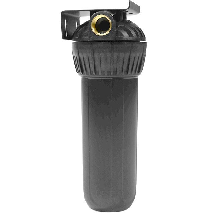 Корпус фильтра Гейзер 10 х 3/4 для горячей воды, цвет: черный50547Корпус Гейзер 10SL 3/4 для горячей воды. Изготовлен из термостойкого полиамида с металлическими ниппелями. Корпус рассчитан на работу под давлением и установку на входе в систему горячего или холодного водоснабжения. В производстве корпусов используются материалы пищевого класса. Особенности корпуса: Корпус испытан давлением 30 Атм Температура воды до +95°С Надежные резьбовые вставки из латуни Простое подключение и монтаж Легкая замена картриджа