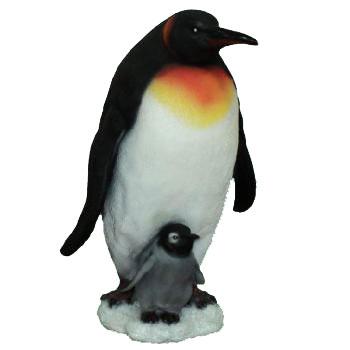 """Elsa / Эльза Фигурка декоративная """"Пингвин с пингвиненком"""", высота 45 см. П-006"""