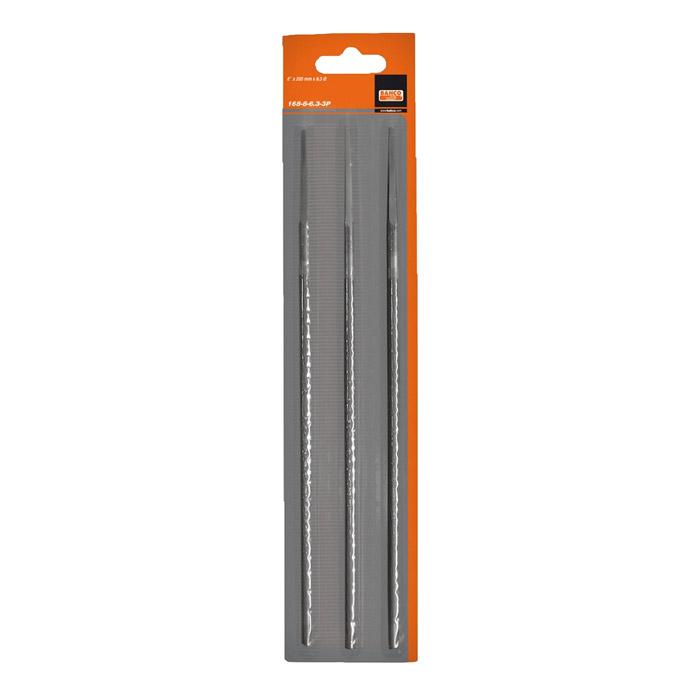 Набор напильников для заточки цепей Bahco, 200 мм х 4,5 мм, 3 шт168-8-4.5-3PНабор круглых напильников Bahco используется для заточки режущих зубьев пильных цепей.