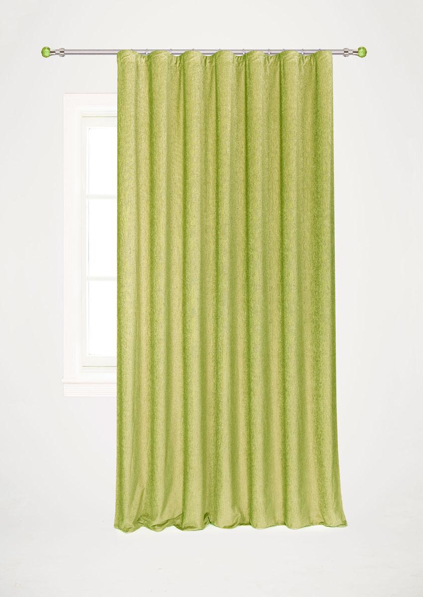 Штора готовая для гостиной Garden, на ленте, цвет: зеленый, размер 200* 260 см. С 535823 V10С 535823 V10Готовая портьерная штора для гостиной Garden выполнена из плотного шинила (полиэстра). Богатая текстура материала и изысканная цветовая гамма привлекут к себе внимание и органично впишутся в интерьер помещения. Изделие оснащено шторной лентой для красивой сборки. Штора Garden великолепно украсит любое окно.