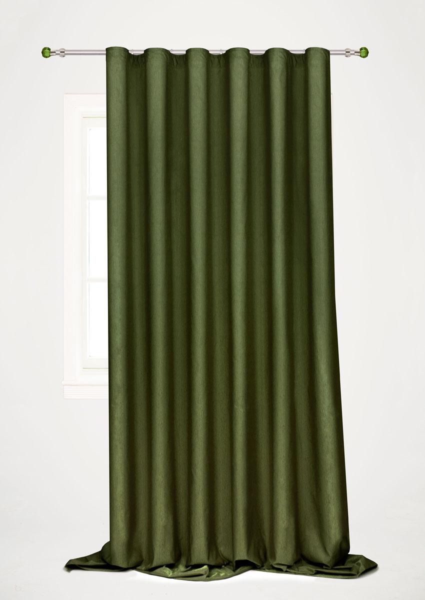 Штора готовая для гостиной Garden, на ленте, цвет: зеленый, 200 х 260 см. С 536097 V58С 536097 V58Готовая портьерная штора для гостиной Garden выполнена из 100% полиэстера. Богатая текстура материала и изысканная цветовая гамма привлекут к себе внимание и органично впишутся в интерьер помещения. Изделие оснащено шторной лентой для красивой сборки. Штора Garden великолепно украсит любое окно.