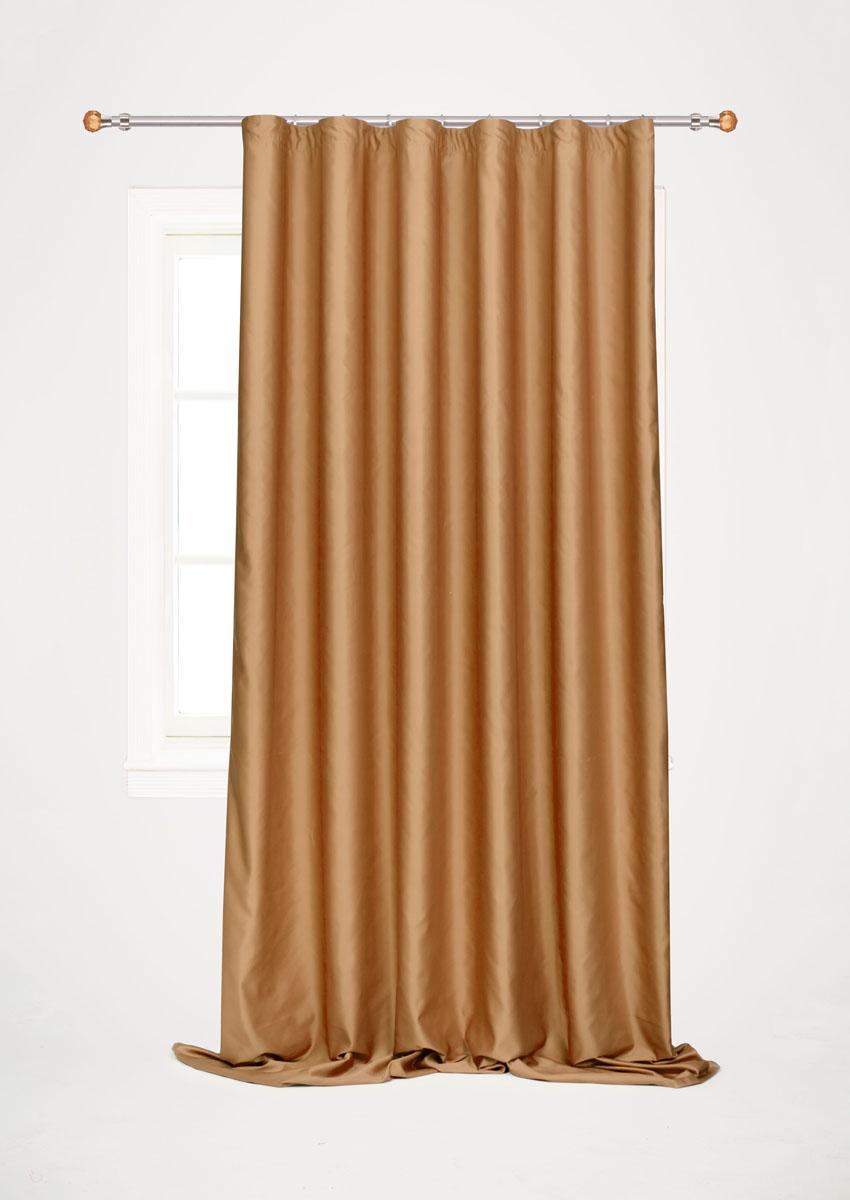 Штора для гостиной Garden, на ленте, цвет: шоколадный, размер 200*260 см. С W1223 V78070С W1223 V78070Роскошная штора-портьера Garden выполнена из сатина (100% полиэстера). Материал плотный и мягкий на ощупь. Оригинальная текстура ткани и нежный цвет привлекут к себе внимание и органично впишутся в интерьер помещения. Эта штора будет долгое время радовать вас и вашу семью! Штора крепится на карниз при помощи ленты, которая поможет красиво и равномерно задрапировать верх. Стирка при температуре 30°С.