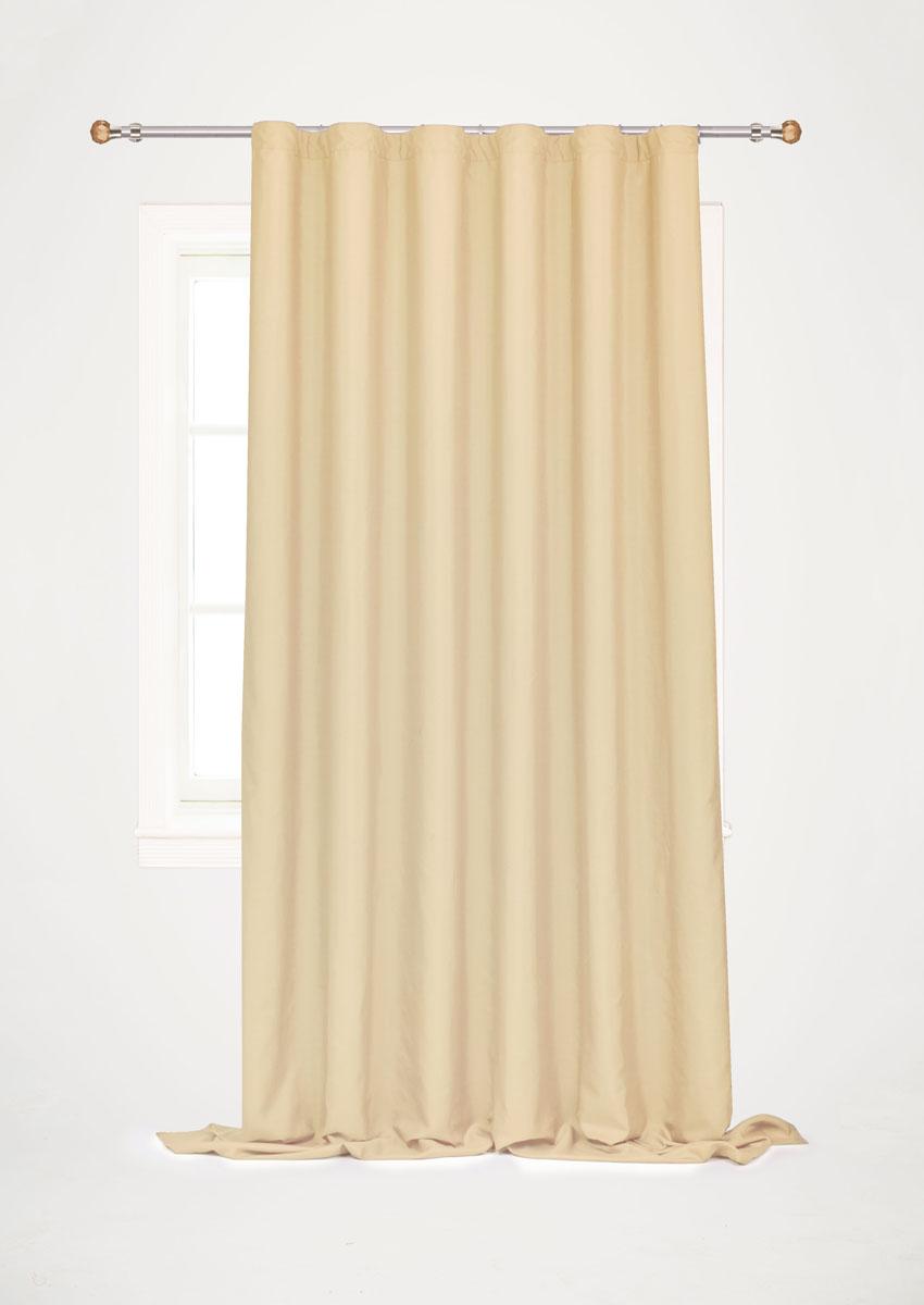 Штора готовая для гостиной Garden, на ленте, цвет: песочный, размер 200*260 см. С W1687 V7225810503Готовая штора-портьера для гостиной Garden выполнена из плотной ткани репс (полиэстер). Богатая текстура материала и спокойная цветовая гамма украсят любое окно и органично впишутся в интерьер помещения.Изделие оснащено шторной лентой для красивой сборки.