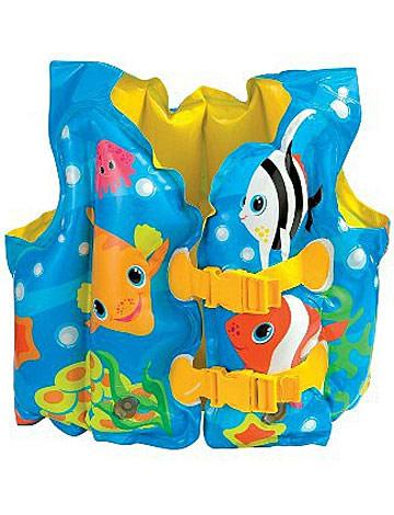 """Детский надувной жилет Intex """"Морская звезда"""", цвет: синий, 41 см х 30 см int59661NP"""