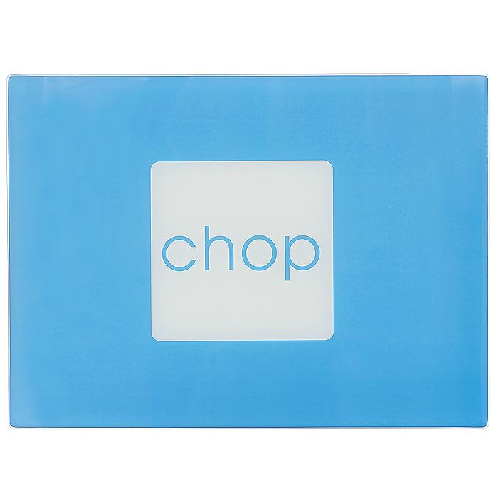 Доска разделочная Block Colour, цвет: голубой1203540Прямоугольная разделочная доска Block Colour выполнена из закаленного стекла, имеет гладкую поверхность. Такое стекло не бьется, оно устойчиво к появлению царапинам и нагреву. Доску можно использовать в качестве подставки под горячее. Стекло - это 100% гигиеничный материал, который не впитывает запахи, соки овощей и другие жидкости, а также легко моется. На дне доски имеются ножки из полимерных материалов, препятствующие скольжению по поверхности стола. Такую доску можно использовать как подставку под горячее, поднос, она идеальна для раскатки теста и нарезки продуктов. Кроме того, яркий дизайн украсит интерьер вашей кухни. Характеристики: Материал: закаленное стекло. Цвет: голубой. Размер доски: 30 см х 40 см. Размер упаковки: 30 см х 40 см х 1 см. Артикул: 1203540.