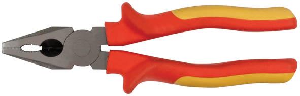 Плоскогубцы FIT Электро-2, 200 мм, до 1000 В50775Плоскогубцы FIT Электро-2 изготовлены из хром ванадиевой стали. Они предназначены для захвата, зажима и удержания мелких деталей. Имеют эргономичные ручки. Выдерживают напряжение до 1000 вольт. Характеристики: Материал: хром-ванадиевая сталь, резина. Общая длина: 17 см. Размер плоскогубцев: 21 см х 6 см х 4 см. Размер упаковки: 28 см х 7 см х 4 см.