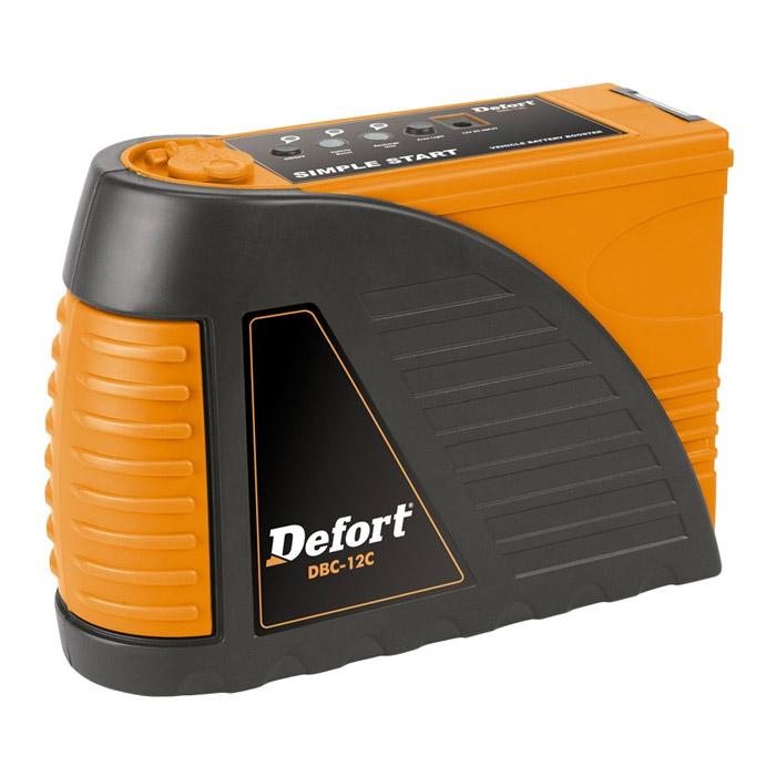 Автомобильное зарядное устройство Defort DBC-12C98294002Назначение зарядного устройства Defort - заряд автомобильных и мотоциклетных 14В аккумуляторных батарей любого типа. Устройство позволяет подзарядить аккумулятор за 10 минут. Имеет возможность подключения к прикуривателю. Заряжается от розетки. Оснащено ультра-ярким фонариком и разъемом 12В. Комплектация: - Зарядное устройство - 1шт. - Инструкция - 1шт. Характеристики: Напряжение зарядки: 14В. Максимально допустимая сила тока: 6-8 А. Вес: 2,5 кг. Размеры устройства (Д х Ш х В): 23 см x 9 см x 21,7 см. Размер упаковки: 23 см х 9 см х 22 см. Артикул: 98294002.